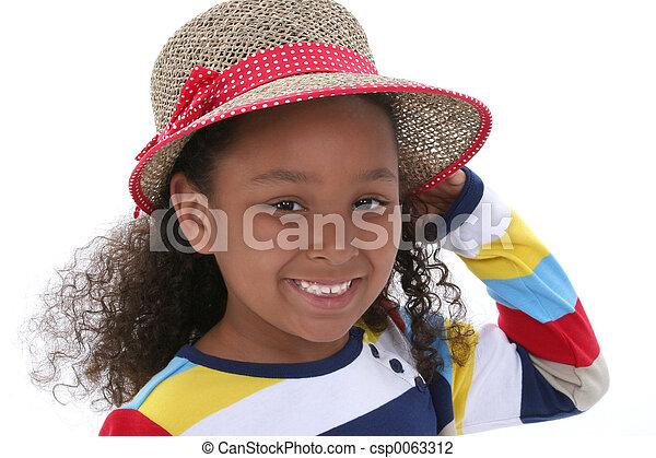 Sombrero de niña - csp0063312