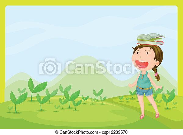 Una chica sonriente - csp12233570