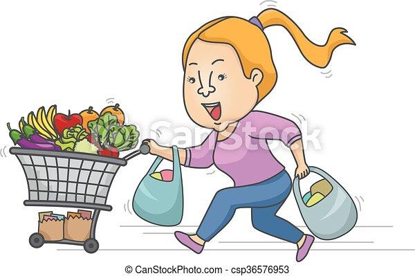 Venta de chicas de supermercado - csp36576953