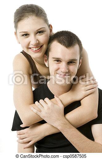 Chica y chico - csp0587505
