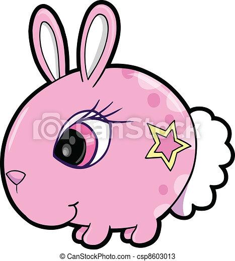 Chica conejo vector de animal de conejo - csp8603013