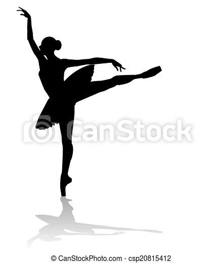 Vector silueta bailarina - csp20815412