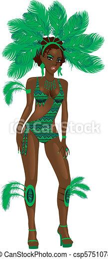 Chica verde carnaval - csp5751078