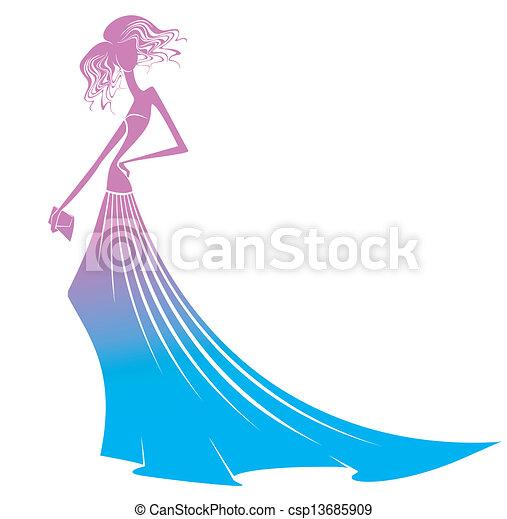 Una chica vestida de noche - csp13685909