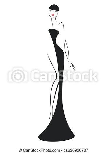Una chica vestida de noche - csp36920707
