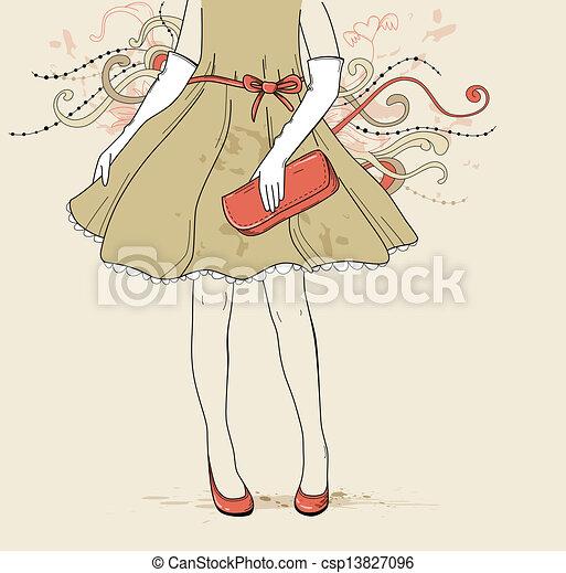 Chica de vestido de noche - csp13827096