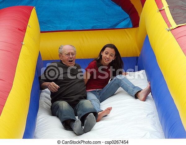 La chica del abuelo - csp0267454