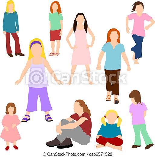niñas, conjunto, -, niños - csp6571522