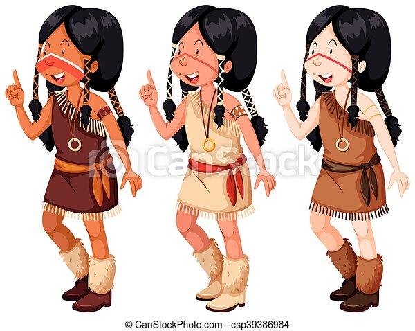Ninas Tradicional Indio Americano Disfraz Nativo Ninas - Disfraz-india-americana