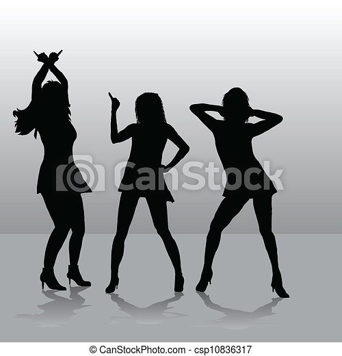Tres chicas disco - csp10836317