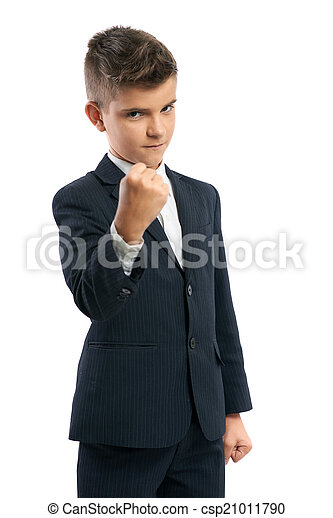 Chico malvado mostrando su puño - csp21011790
