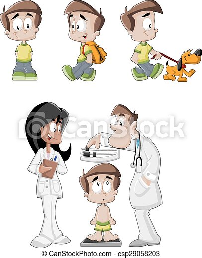 Chico de dibujos animados - csp29058203