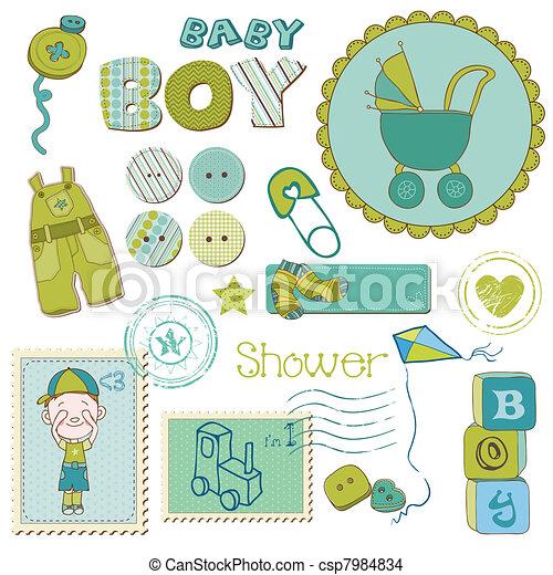 Elegidos para el baby shower - csp7984834