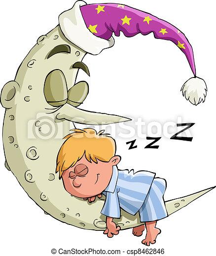 El chico duerme - csp8462846