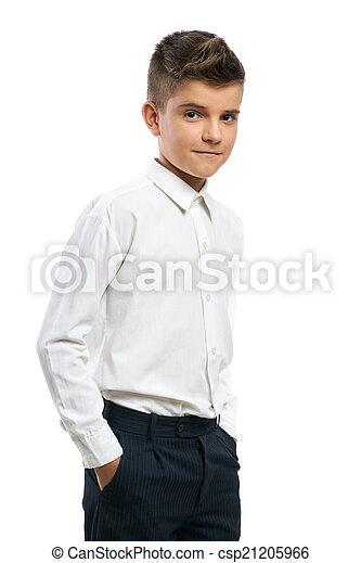 Seguro que el chico puso las manos en los bolsillos - csp21205966