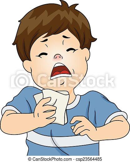 Chico estornudo - csp23564485