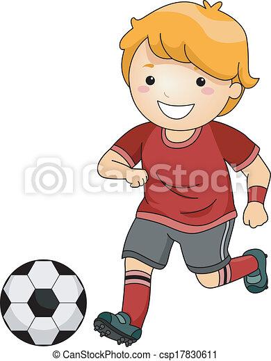 Chico del fútbol - csp17830611
