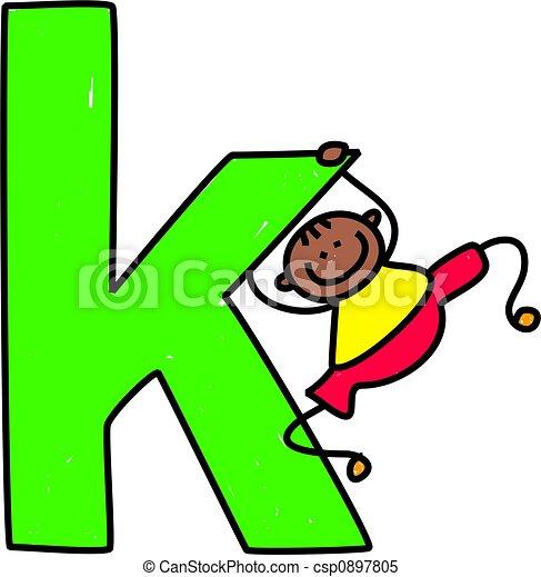 niño, k, carta - csp0897805