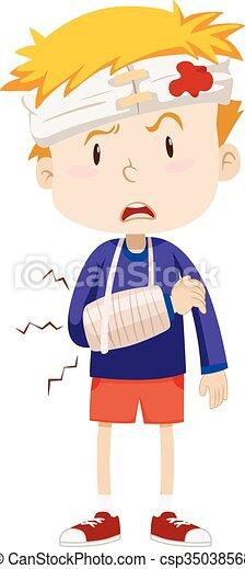 Resultado de imagen de niño lesionado dibujo