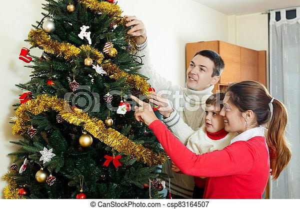 niño, navidad, preparando, niña, tipo - csp83164507