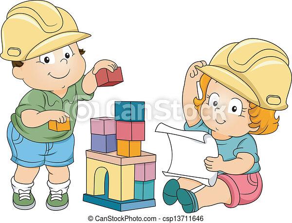 Ingenieros de niños y niños - csp13711646