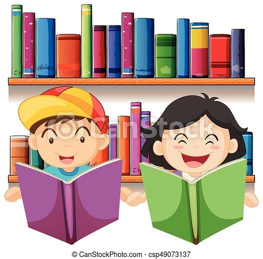 Ni 241 O Ni 241 A Libro Lectura Biblioteca Ni 241 O Ilustraci 243 N