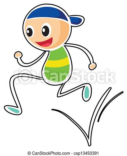 Un niño corriendo - csp13450391