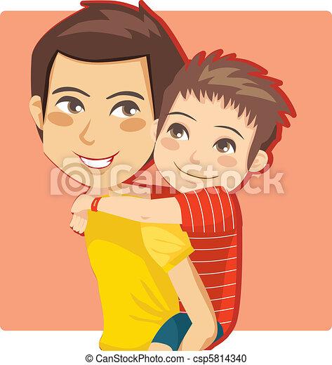 El niño de papá - csp5814340