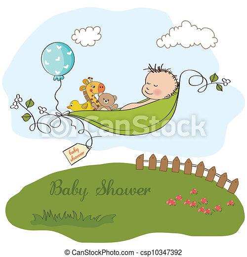 Un niño durmiendo en un guisante - csp10347392