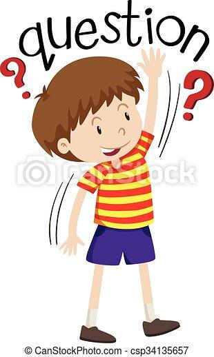 Un niño haciendo preguntas. | CanStock