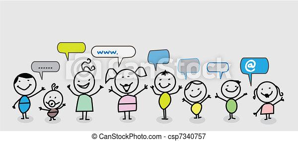 Una red social infantil - csp7340757