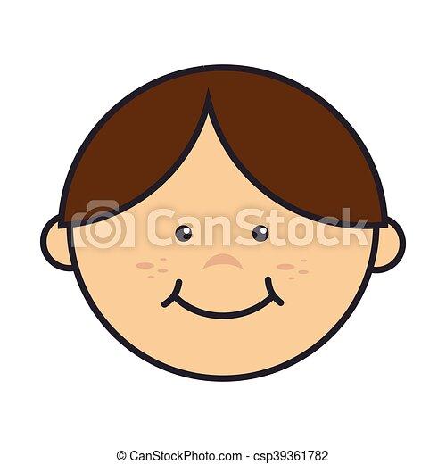 niño, sonriente, niño, niño - csp39361782