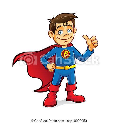 Chico superhéroe - csp18090053