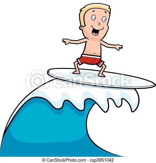 Niño surfeando - csp3951042