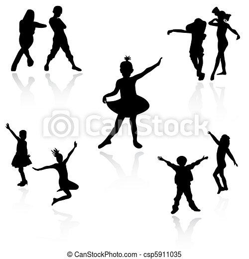 Niños bailando - csp5911035