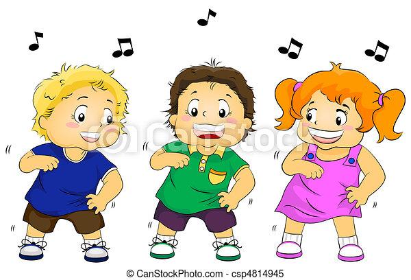 niños, bailando - csp4814945