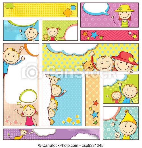 Pancarta infantil - csp9331245