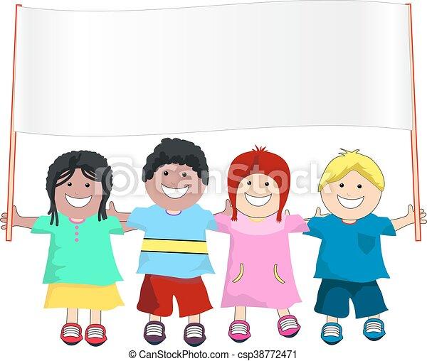Pancarta infantil - csp38772471