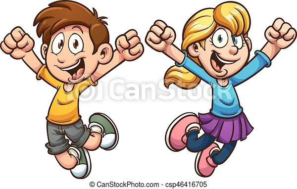 Niños de dibujos animados - csp46416705