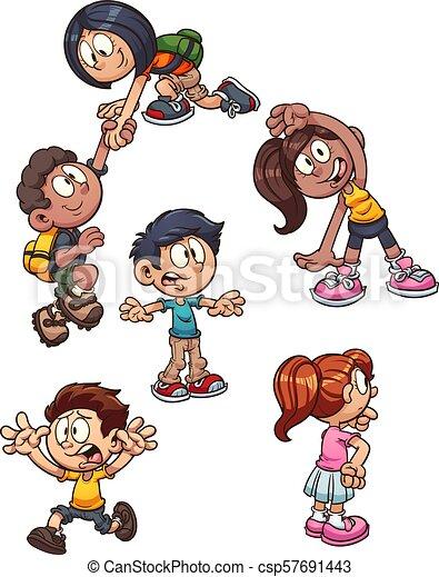 Niños de dibujos animados - csp57691443