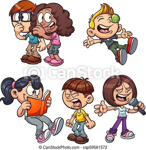 Niños de dibujos animados - csp59561572