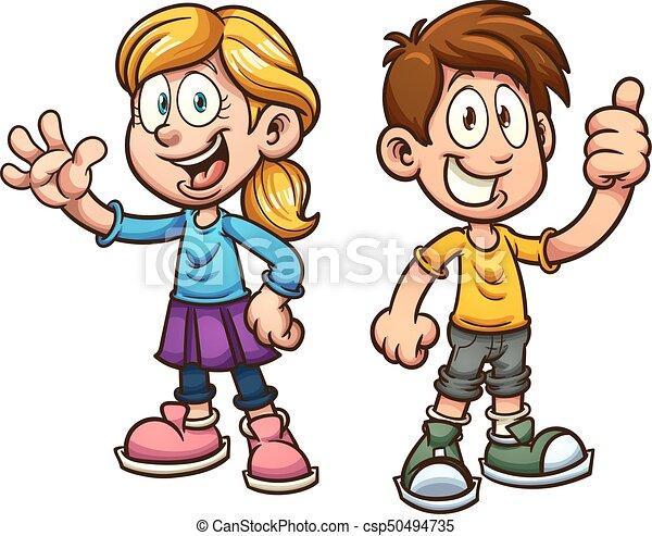 Niños de dibujos animados - csp50494735