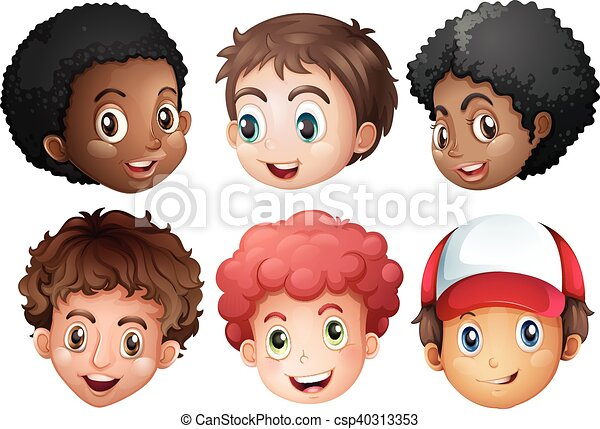 niños, carita feliz - csp40313353
