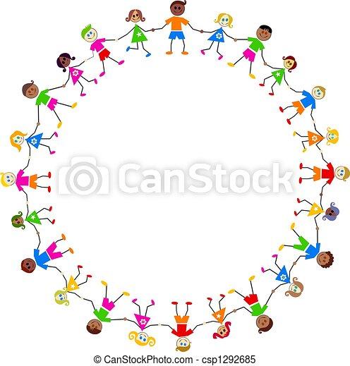 Niños coloridos - csp1292685
