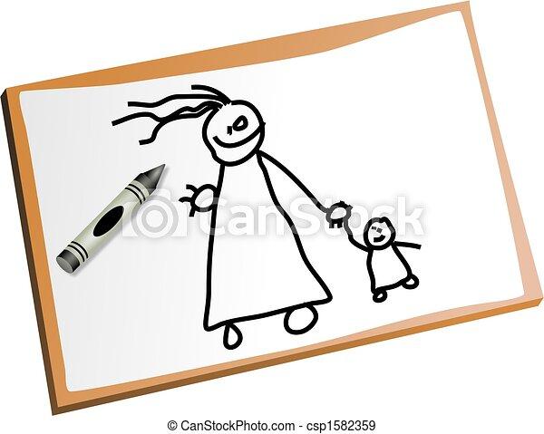 Los niños dibujan - csp1582359