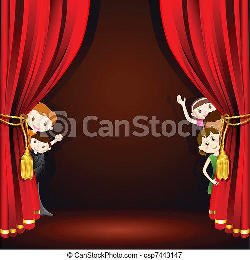 Niños en el escenario - csp7443147