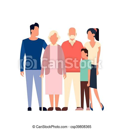 Grandes hijos de familia padres abuelos generación - csp39808365