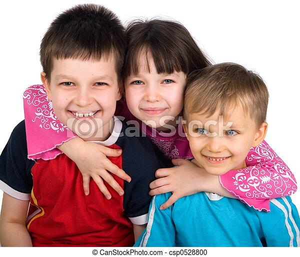 niños, feliz - csp0528800