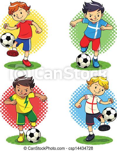 Chicos del fútbol - csp14434728