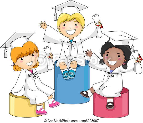 Nivel de graduación de niños - csp6008907